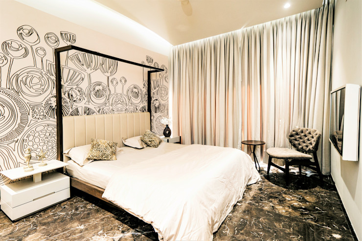 BEDROOM - 2 Asian style bedroom by DESIGNER'S CIRCLE Asian