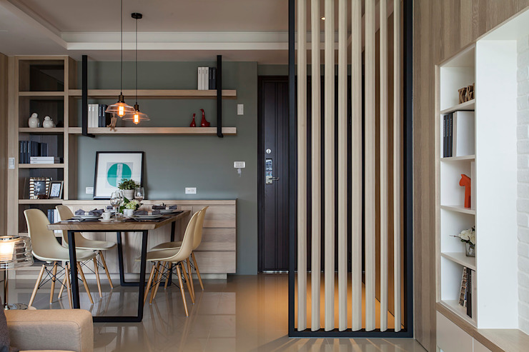 Skandinavische Wohnzimmer von 沐澄設計 Skandinavisch