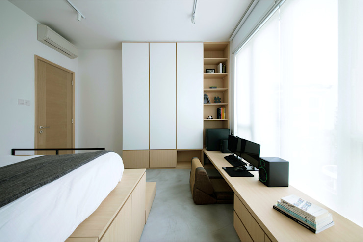 Caribbean @ Keppel bay Scandinavian style bedroom by Eightytwo Pte Ltd Scandinavian Wood Wood effect