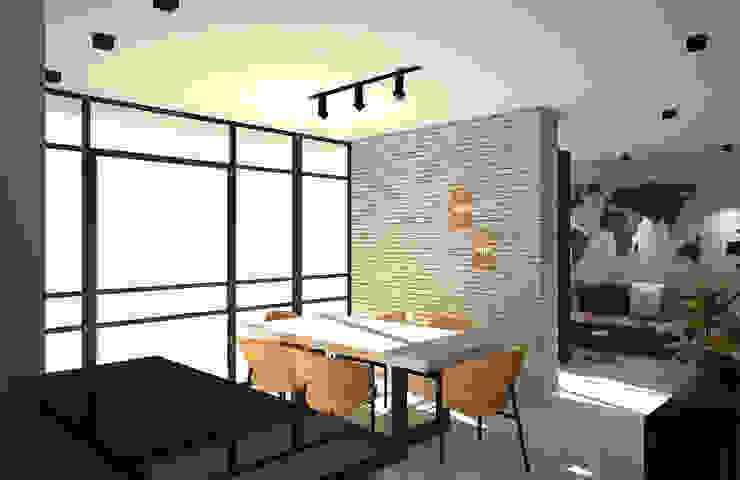 Diseño interior apartamento estilo industrial Salas de estilo industrial de Savignano Design Industrial