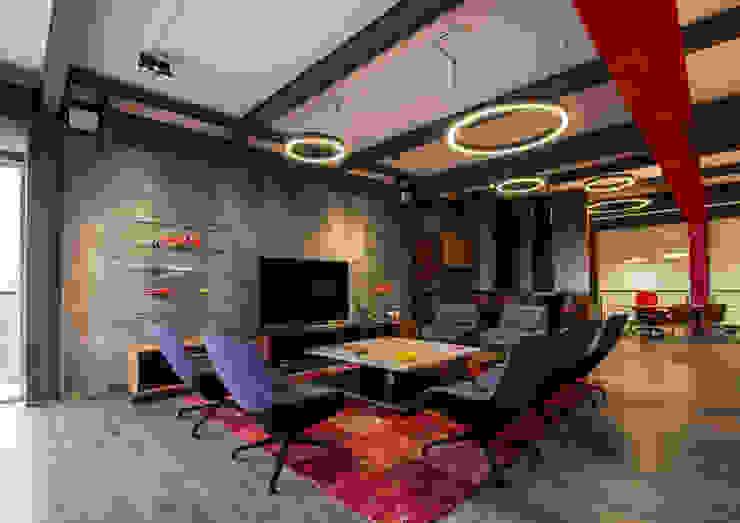 Salón Privado de Autos: Salas de estilo  por IAARQ (Ibarra Aragón Arquitectura SC), Moderno