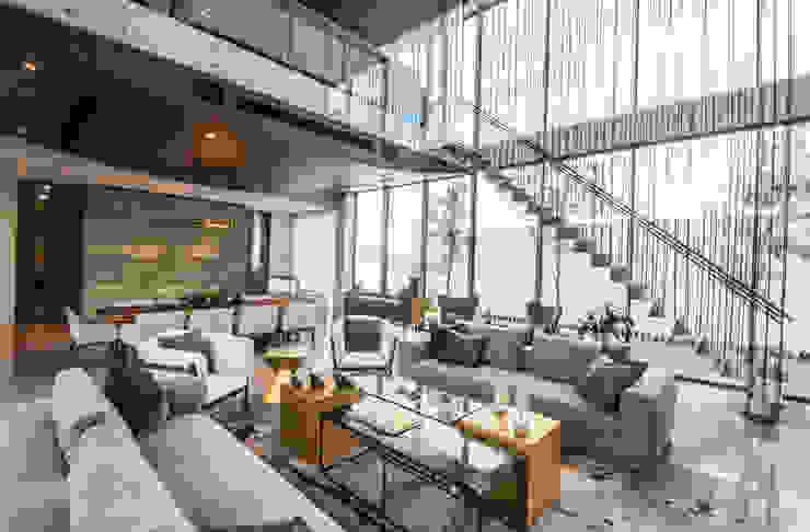 Salas de estilo moderno de IAARQ (Ibarra Aragón Arquitectura SC) Moderno