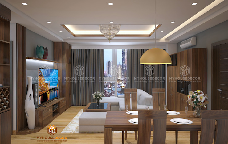 Nhà Chú Tuệ - Trần Phú bởi Công ty TNHH Tư vấn thiết kế My House Decor
