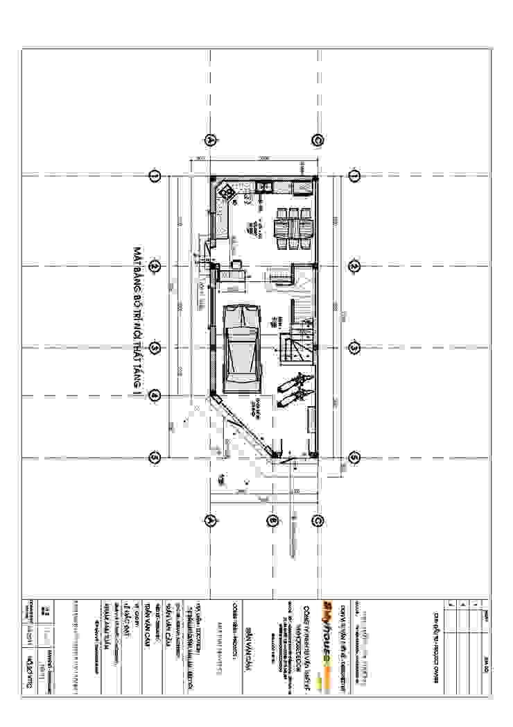 Nhà Anh Thắng - Chị Phương bởi Công ty TNHH Tư vấn thiết kế My House Decor