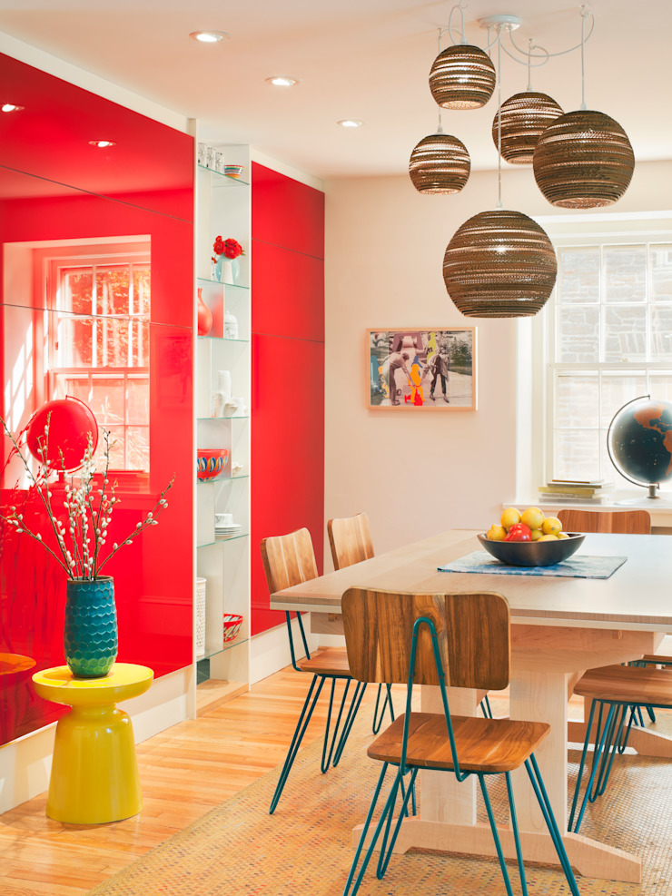 Cohen House Eclectic style dining room by Metcalfe Architecture & Design Eclectic