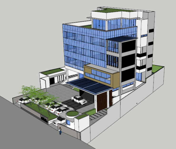 TANAH LAUT TBK OFFICE:modern  oleh sony architect studio, Modern