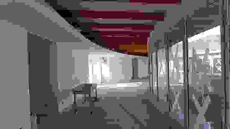 Pasillo de ingreso de Plan V Arquitectos Ltda Moderno