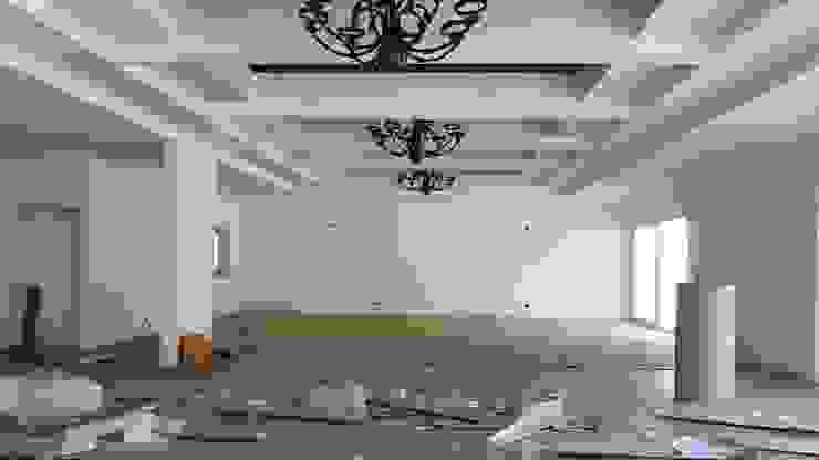 Vista Sala de estar y comedor Comedores de estilo moderno de Plan V Arquitectos Ltda Moderno