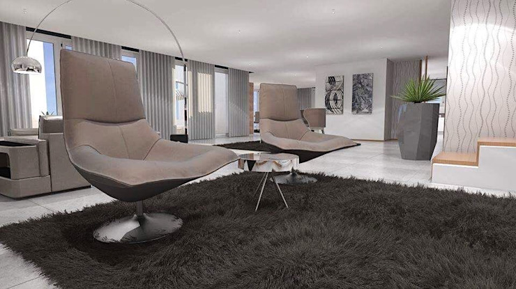 Modern Living Room by MJF Interiores Ldª Modern Copper/Bronze/Brass