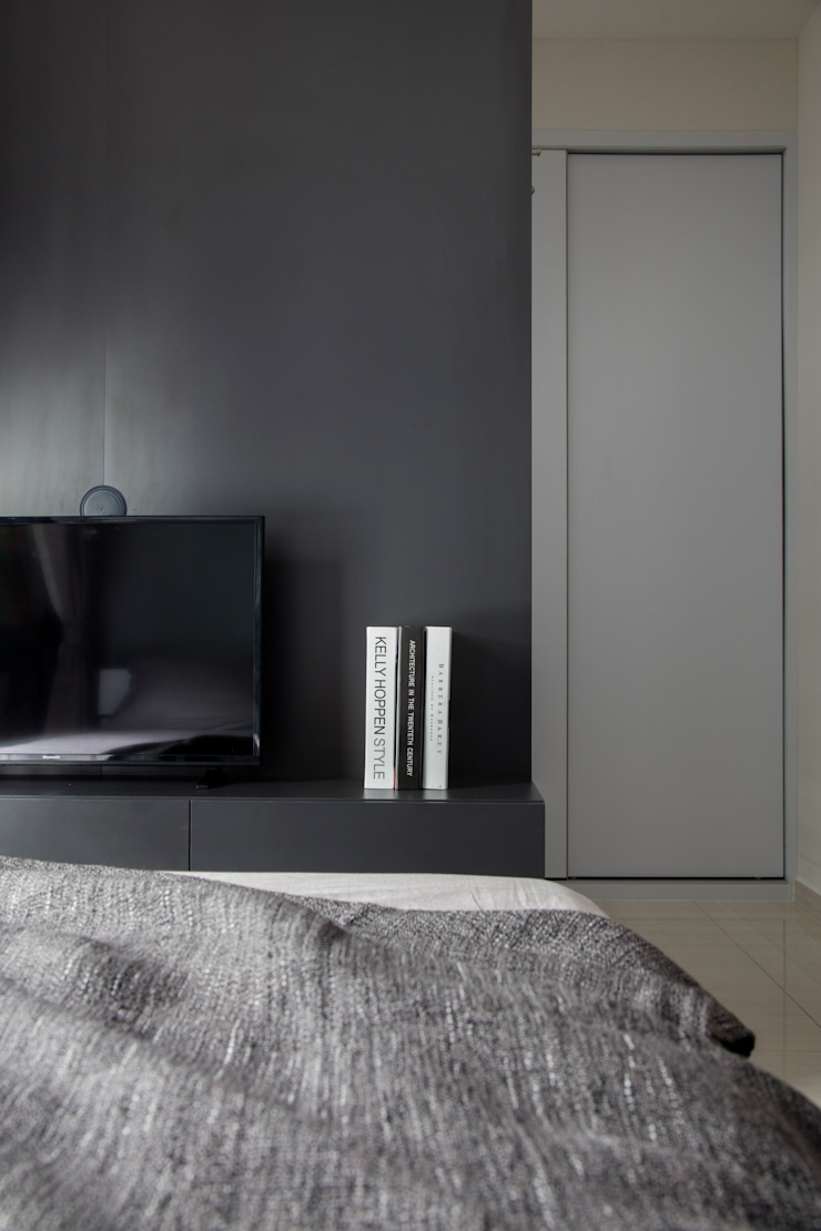 Eightytwo Minimalist bedroom Black