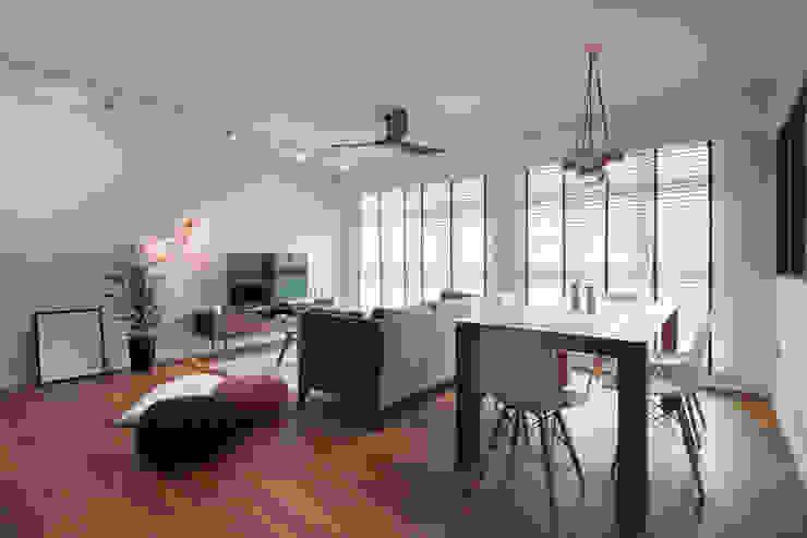 COMPASSVALE ANCILIA II Scandinavian style living room by Eightytwo Pte Ltd Scandinavian Wood Wood effect