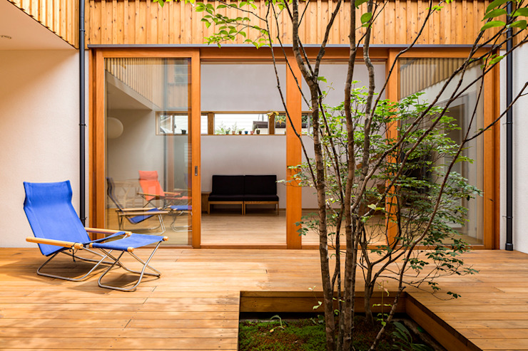 中一の沢・光庭のある家 中山大輔建築設計事務所/Nakayama Architects オリジナルスタイルの 温室