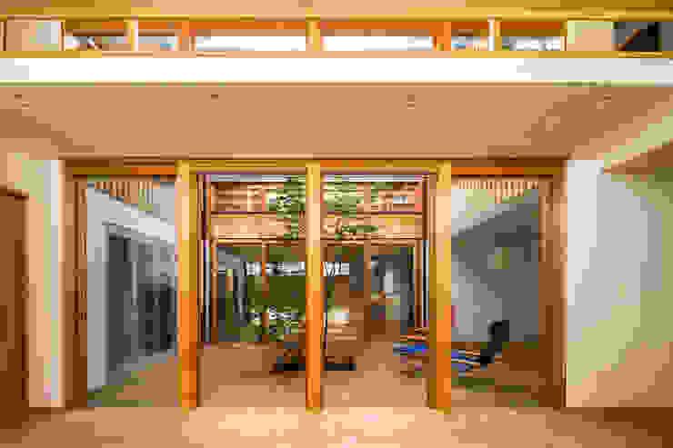 中一の沢・光庭のある家 中山大輔建築設計事務所/Nakayama Architects 木製サッシ