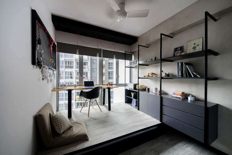 HILLSTA Industrial style study/office by Eightytwo Pte Ltd Industrial Wood Wood effect