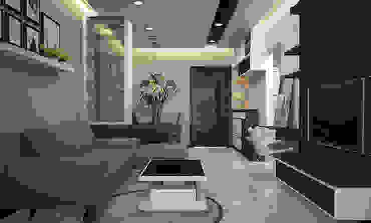 Modern living room by CÔNG TY TNHH THIẾT KẾ VÀ XÂY DỰNG GREEN SPACE Modern