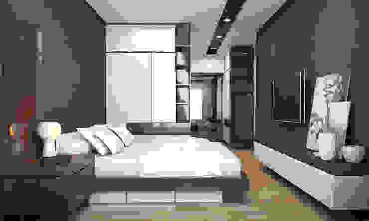Modern style bedroom by CÔNG TY TNHH THIẾT KẾ VÀ XÂY DỰNG GREEN SPACE Modern