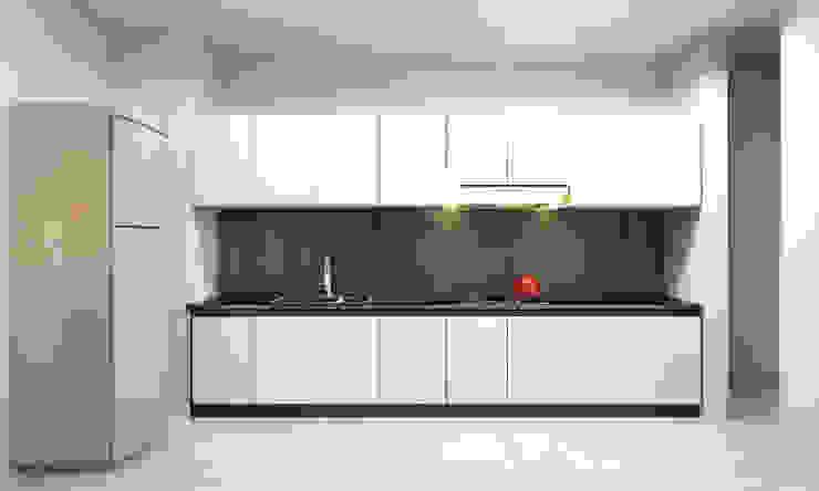 Modern kitchen by CÔNG TY TNHH THIẾT KẾ VÀ XÂY DỰNG GREEN SPACE Modern