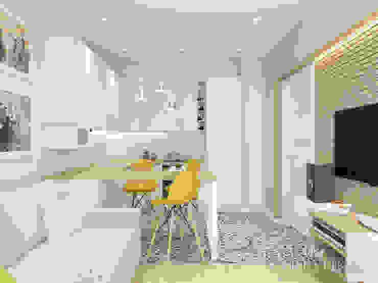 variatika Salas de estilo minimalista Madera Amarillo