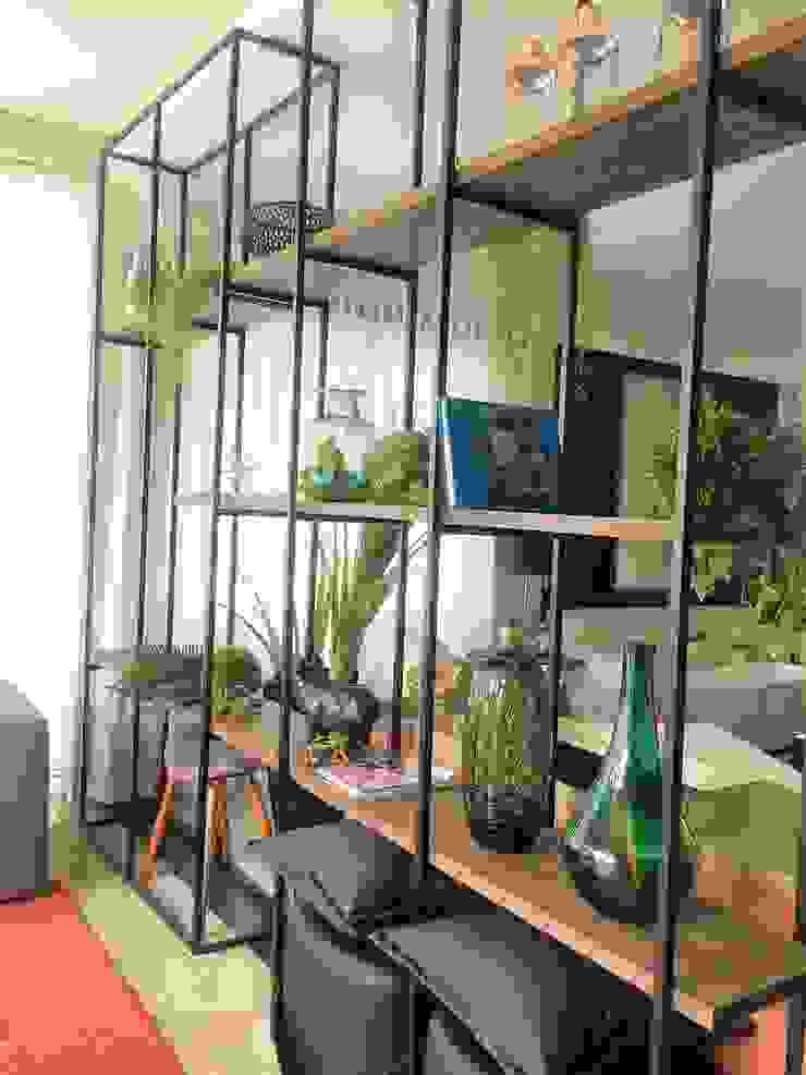 Sgabello Interiores Living roomShelves Iron/Steel Black