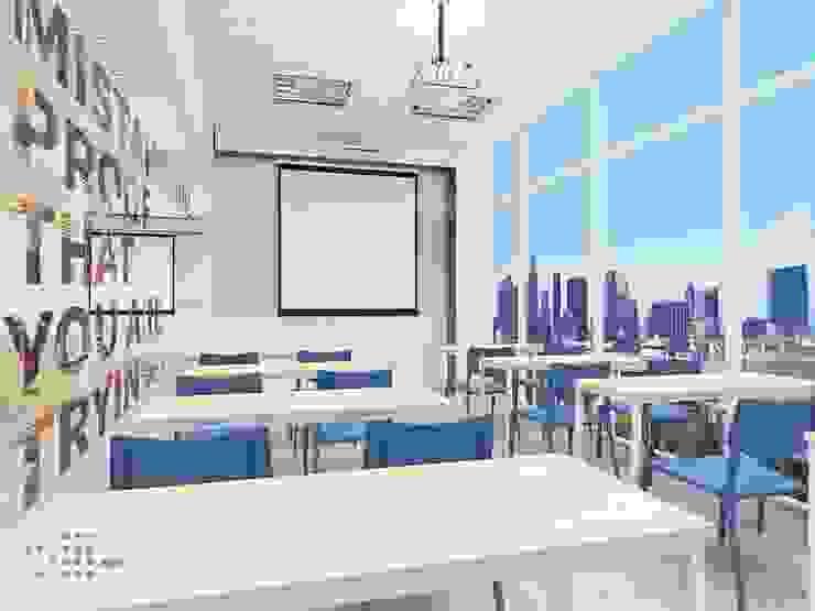 Các phòng học không những đẹp mà còn rất tiện nghi: hiện đại  by Công ty Cổ phần truyền thông ATH Việt Nam, Hiện đại