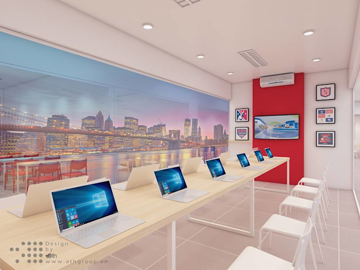 Phòng Laptop hiện đại ở EQuest: hiện đại  by Công ty Cổ phần truyền thông ATH Việt Nam, Hiện đại