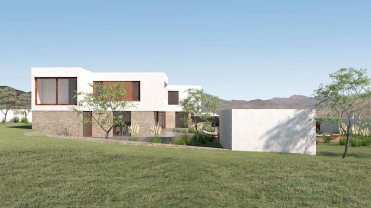 Vivienda La Chimba Uno Arquitectura Casas de campo Concreto Blanco