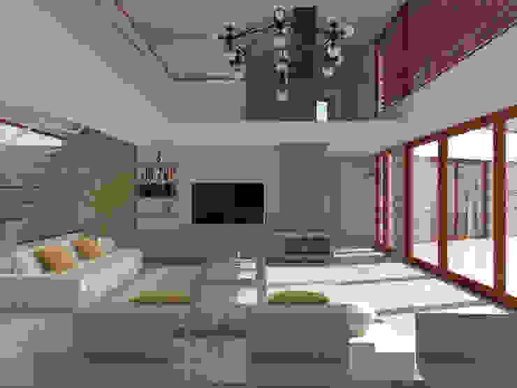 Vivienda La Chimba Livings de estilo moderno de Uno Arquitectura Moderno Concreto