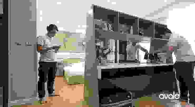 Căn hộ Park Hill ấm cúng và tiện dụng Phòng ngủ phong cách hiện đại bởi Công ty cổ phần NỘI THẤT AVALO Hiện đại