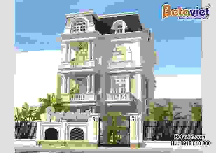 Phối cảnh mẫu biệt thự đẹp 3 tầng Tân cổ điển BT16011 bởi Công Ty CP Kiến Trúc và Xây Dựng Betaviet