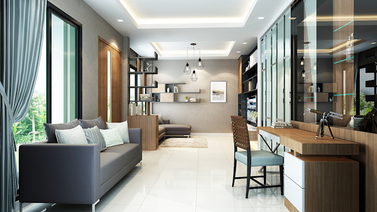 โครงการออกแบบตกแต่ง บ้านพักอาศัย 2 ชั้น บางกอกบูเลอวาร์ด รามอินทรา โดย ไทศิลป์ อินทีเรีย taisilp interior