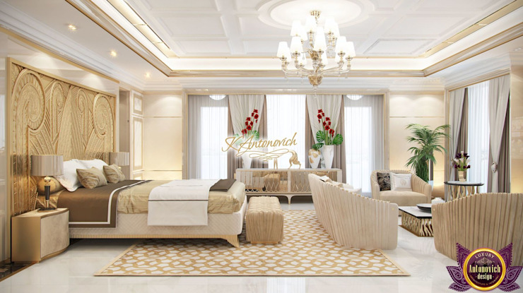 Luxury house decoration by Katrina Antonovich Modern style bedroom by Luxury Antonovich Design Modern