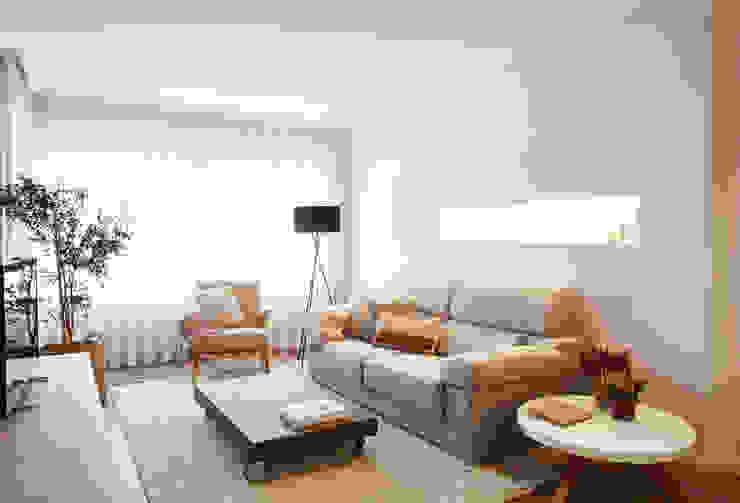 Phòng khách phong cách Bắc Âu bởi Laia Ubia Studio Bắc Âu