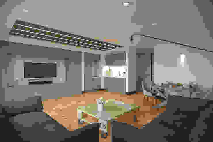 Kemerburgaz LIVERA Suites – Örnek Daire Tasarımı İskandinav Oturma Odası Kolon Mimarlık - İçmimarlık İskandinav