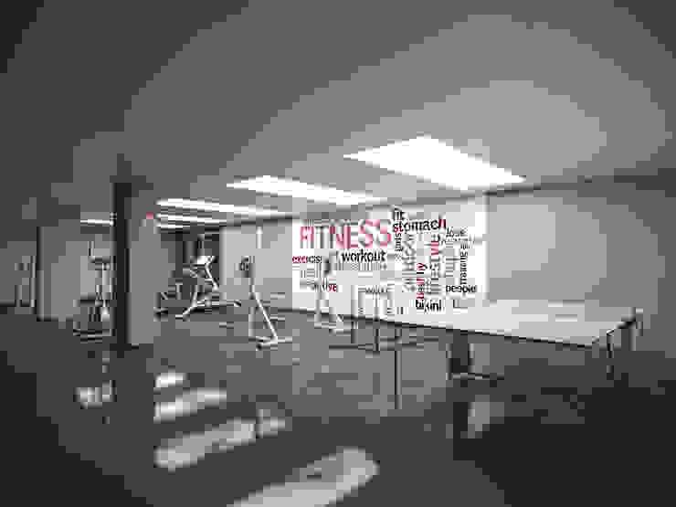 Kemerburgaz LIVERA Suites – Örnek Daire Tasarımı İskandinav Fitness Odası Kolon Mimarlık - İçmimarlık İskandinav