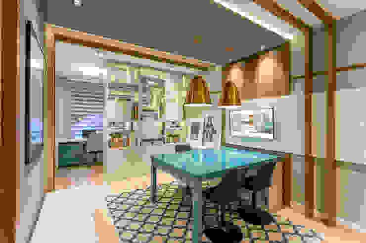 Juliana Agner Arquitetura e Interiores Espaces de bureaux modernes Bleu