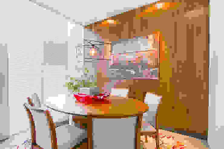 Mesa Jantar Oval por Sgabello Interiores Moderno Madeira Efeito de madeira