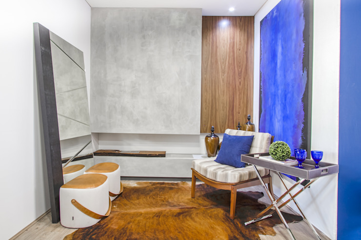 de Sgabello Interiores Minimalista Concreto