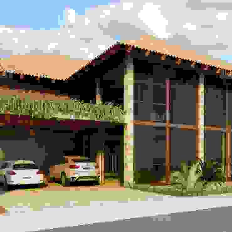 Fachada Casas rústicas por homify Rústico