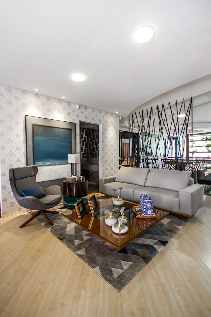 Sgabello Interiores Modern living room Engineered Wood Grey