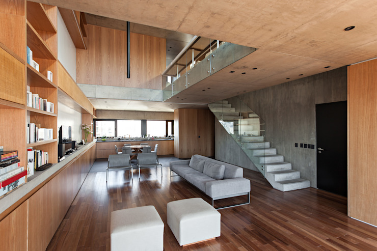 Modern Living Room by ATV Arquitectos Modern Wood Wood effect