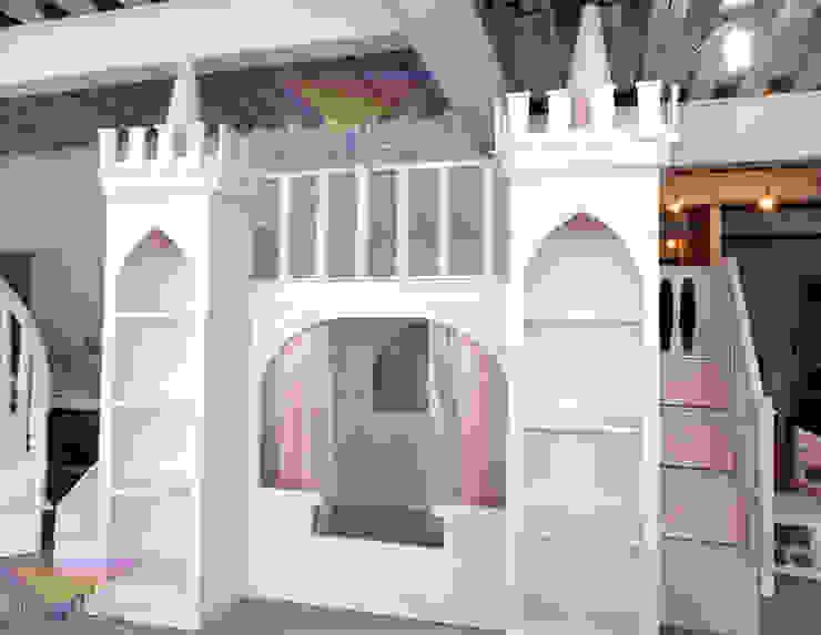 Elegante castillo litera de camas y literas infantiles kids world Clásico Derivados de madera Transparente