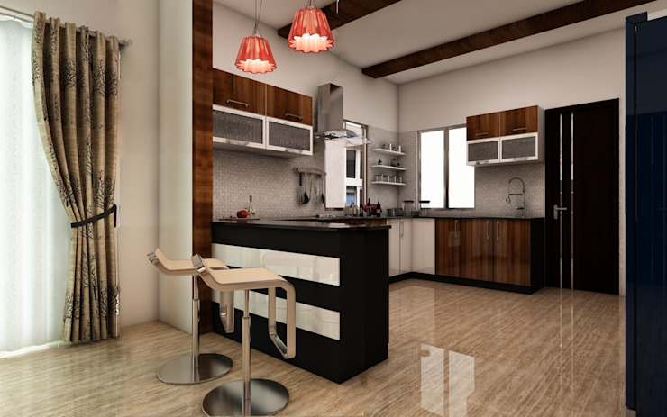 Kitchen by homify Modern