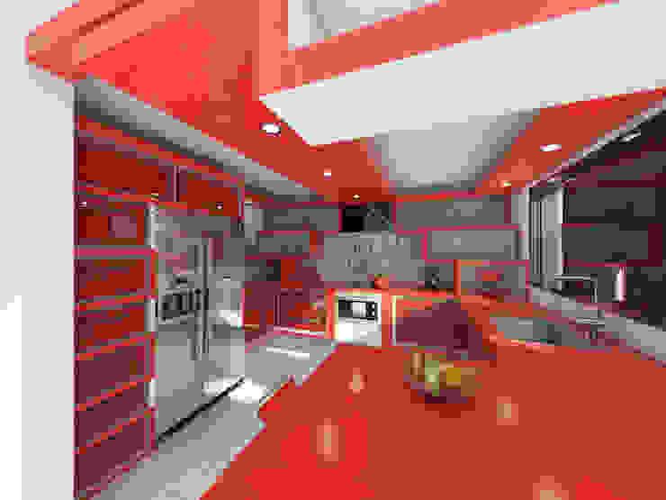 Remodelacion cocina de Arq. Yofrank Diaz Moderno Madera Acabado en madera