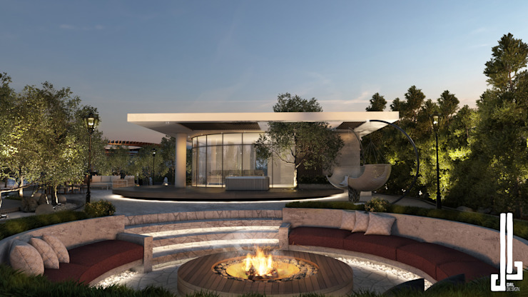 Private courtyard landscape and design by dal design office