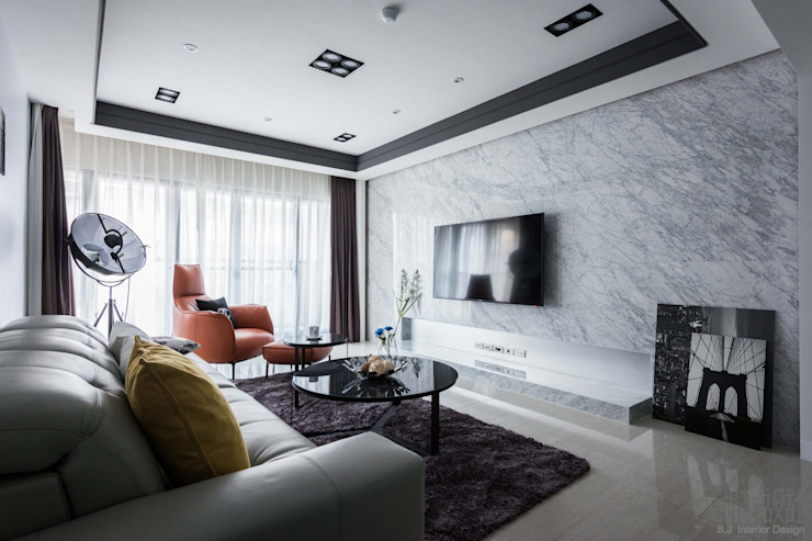 Salas de estar modernas por 湘頡設計 Moderno
