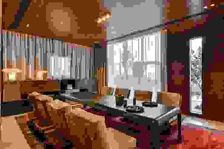 Premium Villa Minimalist dining room by Racheta Interiors Pvt Limited Minimalist
