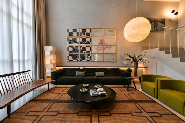 Premium Villa Minimalist living room by Racheta Interiors Pvt Limited Minimalist