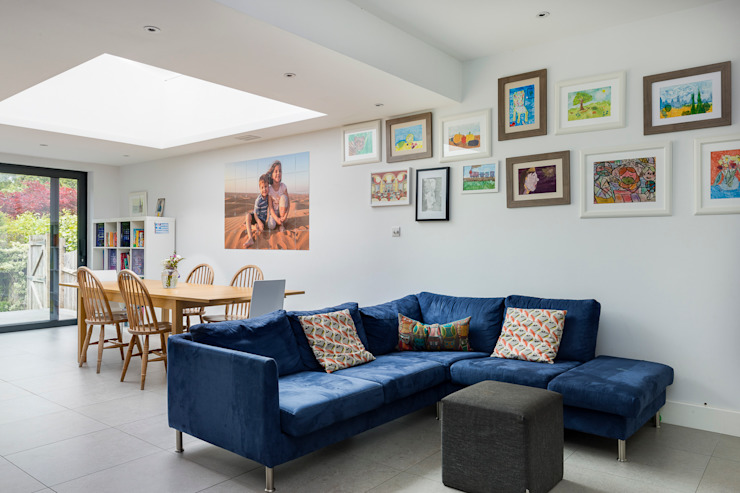 House Extension, Southgate, London Modern living room by Model Projects Ltd Modern