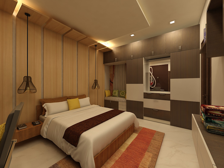 Bedroom Modern style bedroom by homify Modern