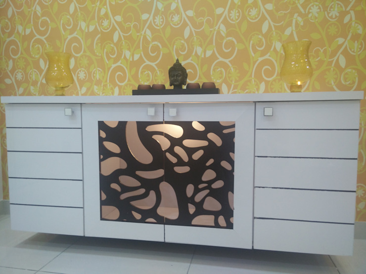 Puja Console unit: modern  by Enrich Interiors & Decors,Modern Plywood